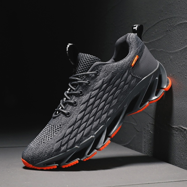 Men Blade Shoes Soft Running Shoes Men's Breathable Walking Jogging Shoes Outdoor Fashion Shoes Men Casual Cool Black 1