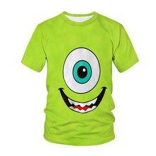 2021 Summr New Monster Electric University pattern Kids t-shirt 3D Print Boys Girls personality Streetwear tshirt Casual Top