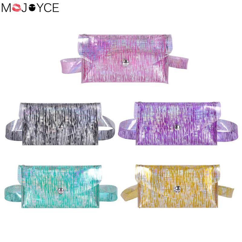 Women Bsgs New Fashion  Waist Packs Bolso Mujer PVC Clear Waist Bags Women Laser Jelly Mini Crossbody Shoulder Chest Bag