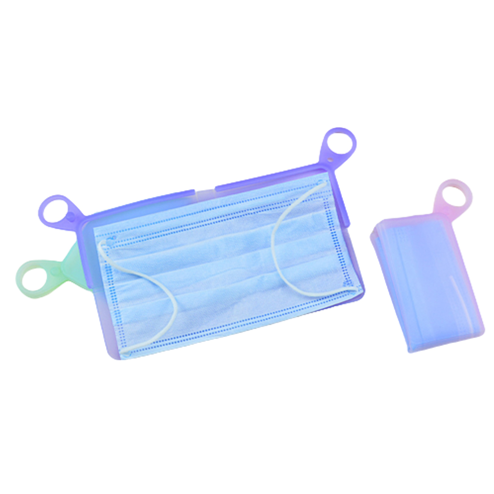Portable Silicone Sleeve Storage Bag Multifunctional Packing Bag Box For Storing Disposable Mask Mask Storage Clips(China)