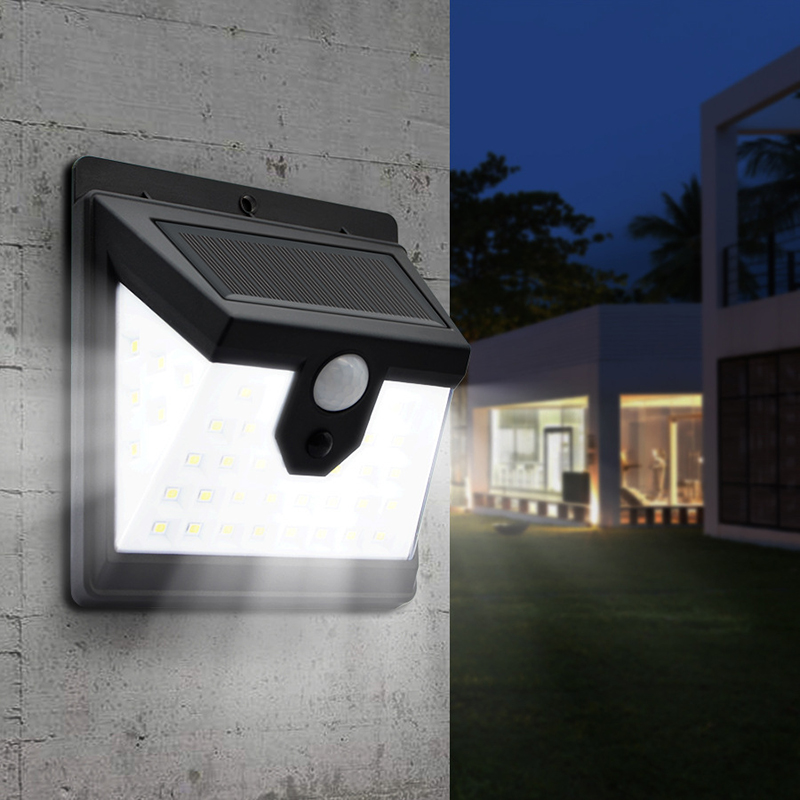 40 LED Solar Power Light 3 Modes Human Body Sensor Solar Wall Lamp Garden Decoration Outdoor Lighting Waterproof Solar Lamps