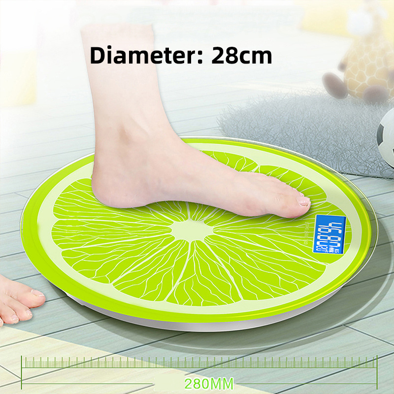 Bathroom-Scale Weighing Lemon-Pattern Body Fat Electronic Household USB Digital title=