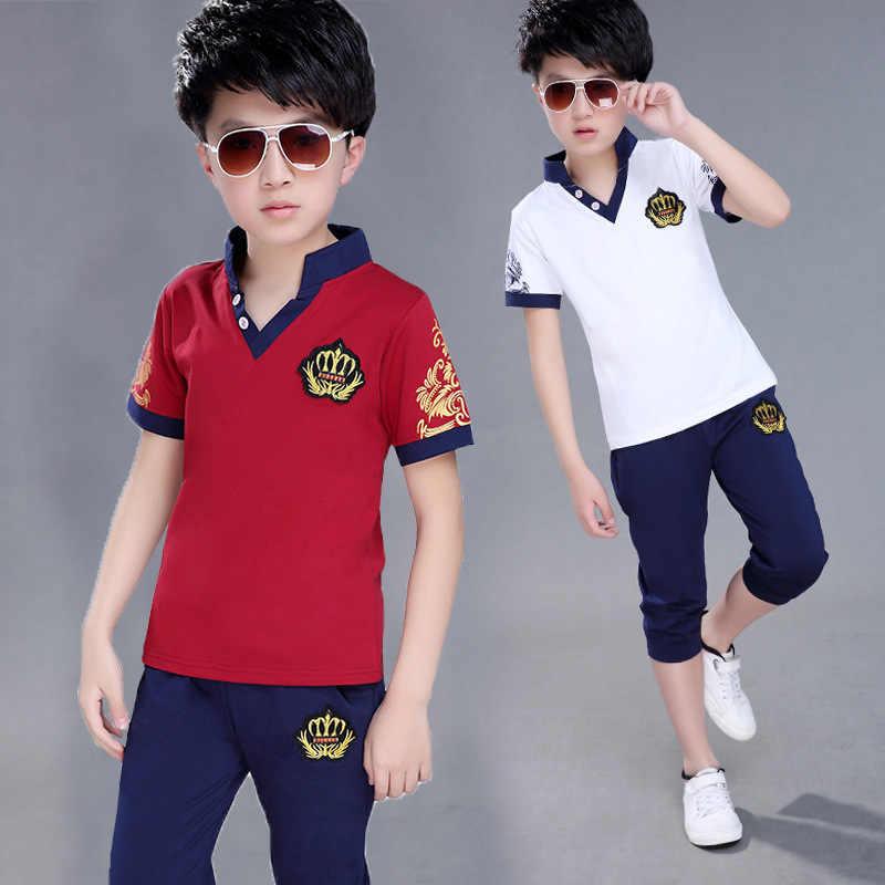 Toddler Boy Summer Clothes Set Cool Outfits Summer Short Set Short Sleeved Polo Tee Short 2pcs Pants Set