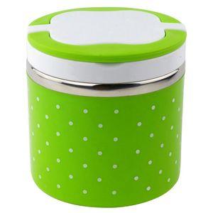 1 слой термо бенто Ланч-бокс термос для еды из нержавеющей стали изоляционный контейнер для хранения еды наборы посуды зеленый