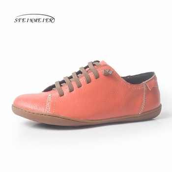 Women flat shoes genuine suede leather barefoot Casual Shoes woman Flats baleriny sneakers Female Footwear shoes 2020 spring