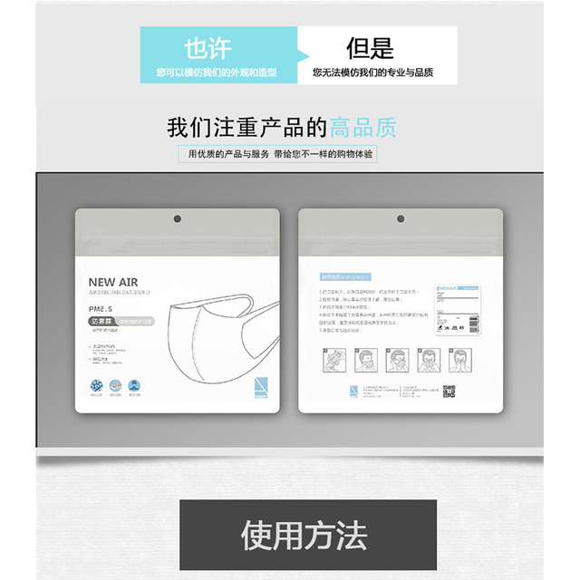 Resuable Black Face Mask Washable Mask with pm 2.5 filter Anti dust proof Flu Facemask 1pcs Dust Mask + 5Pcs PM2.5 Filter paper 4