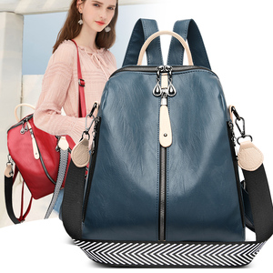 Image 2 - Fashion Backpack Women Soft Leather Backpack Female White High Quality Travel Back Pack School Backpacks for Girls Sac A Dos Hot
