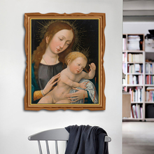 Virgin Mary Holy Child Christian Oil Painting on Canvas Art Print Home Decor Wall Picture for Living Room Church
