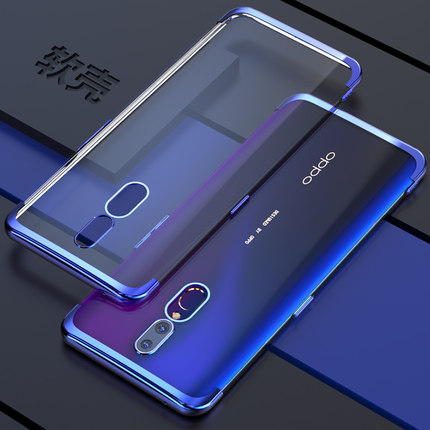 For <font><b>OPPO</b></font> Realme 3 5 X2 Pro A5 A9 2020 Case Soft <font><b>TPU</b></font> Slim <font><b>plating</b></font> transparent Back cover case For <font><b>oppo</b></font> <font><b>reno</b></font> 2 2Z 2F 10x zoom ACE image
