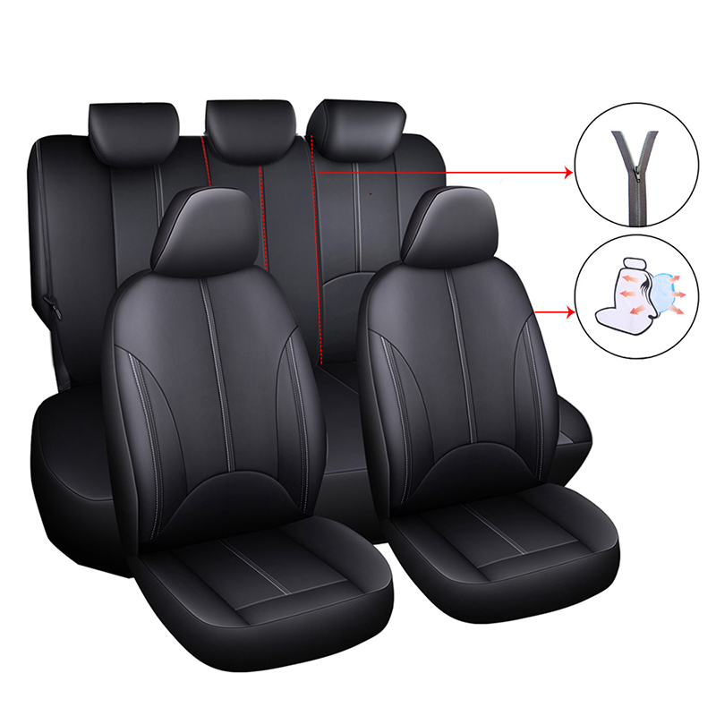 Front Leatherette seat covers fit Mitsubishi Carisma 1+1 black//grey