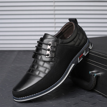 2019 New Big Size 38-48 Oxfords Leather Men Shoes Fashion Casual Slip On Formal Business Wedding Dress Shoes Drop Shipping 2016 new arrival top quality men s slip on basic oxfords real cowhide leather formal wedding dress shoes men sapato masculino 46