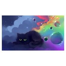 Diamant Schilderij 5D DIY Black Cat Decor Handgemaakte Foto Van Strass Volledige Vierkante Boor Borduurwerk