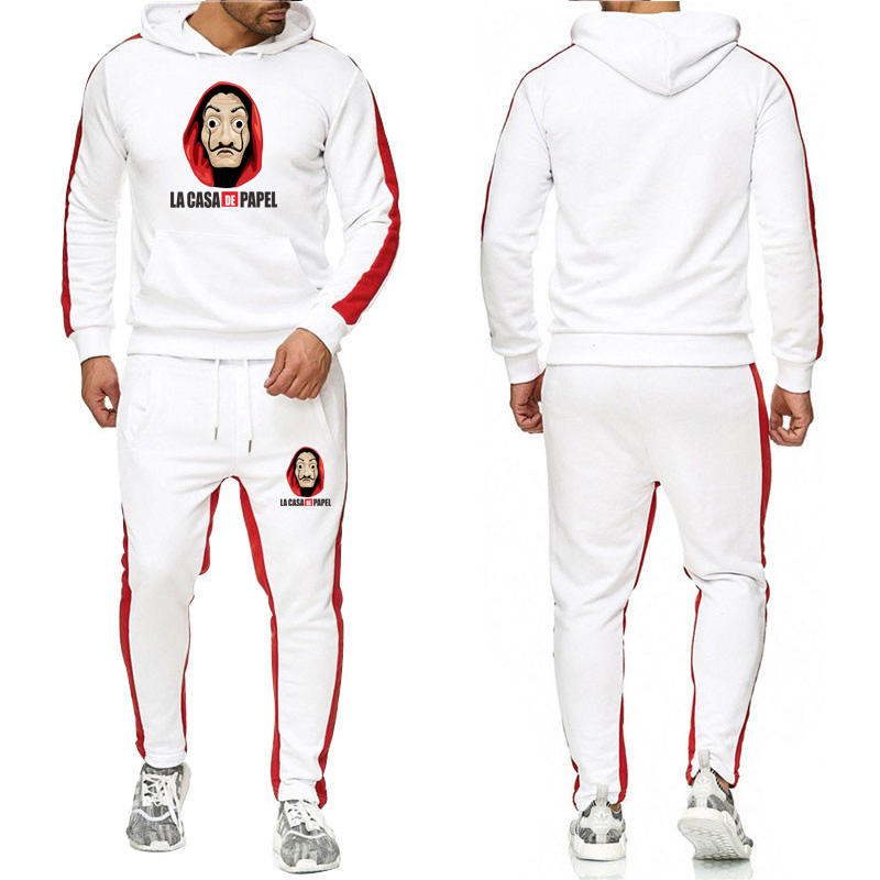 Brand Clothing Men's New Fashion Tracksuit Casual Sportsuit Men Hoodies Sweatshirts Sportswear Letter Print Coat+Pant Men Set