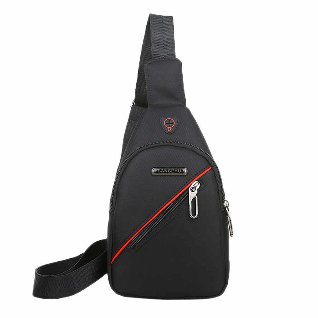 女性のクロスボディバッグ男性の USB 胸バッグデザイナーメッセンジャーバッグレザーショルダーバッグ対角線パッケージ新バックパック旅行