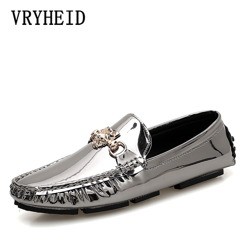 VRYHEID Italian Mens Shoes Outdoor Casual Luxury Brand Men Loafers Moccasins Flats Men Breathable Slip On Boat Shoes Size 38-47