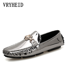 VRYHEID Italian Mens Shoes Outdoor Casual Luxury Brand Men Loafers Moccasins Flats Men Breathable Slip On Boat Shoes Size 38-47 цены онлайн