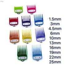 Renkli kılavuzu tarak çoklu boyutları Metal sınırlı tarak saç kesme kesme aracı