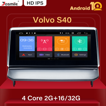 IPS DSP Android 10.0 Car Multimedia Player Auto Radio For VOLVO S40 C40 C30 C70 2006-2012 GPS Navigation Stereo RDS Audio 2GB image