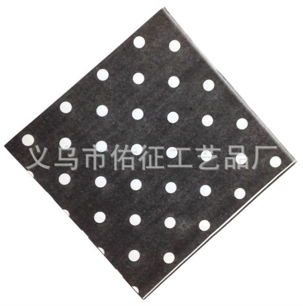 Export Europe And America Foreign Trade Color Printed Napkin Hotel Paper Towel Western Restaurant Black Polkadot Napkin