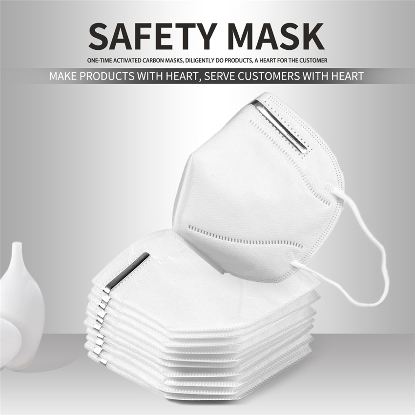 10pcs KN95 Mask Anti-dust Mask Dustproof Mask 3-Ply Anti-industrial Mask Elastic Soft Breathable Face Mask