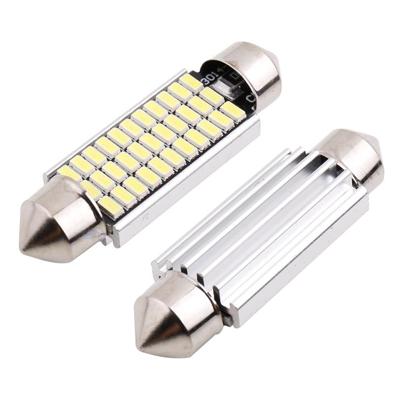 Festoon-Light Doom-Lamp C10W 36mm 31mm 39mm 41mm SMD 1PC C5w Led 12V 4014 24/30/36/39leds
