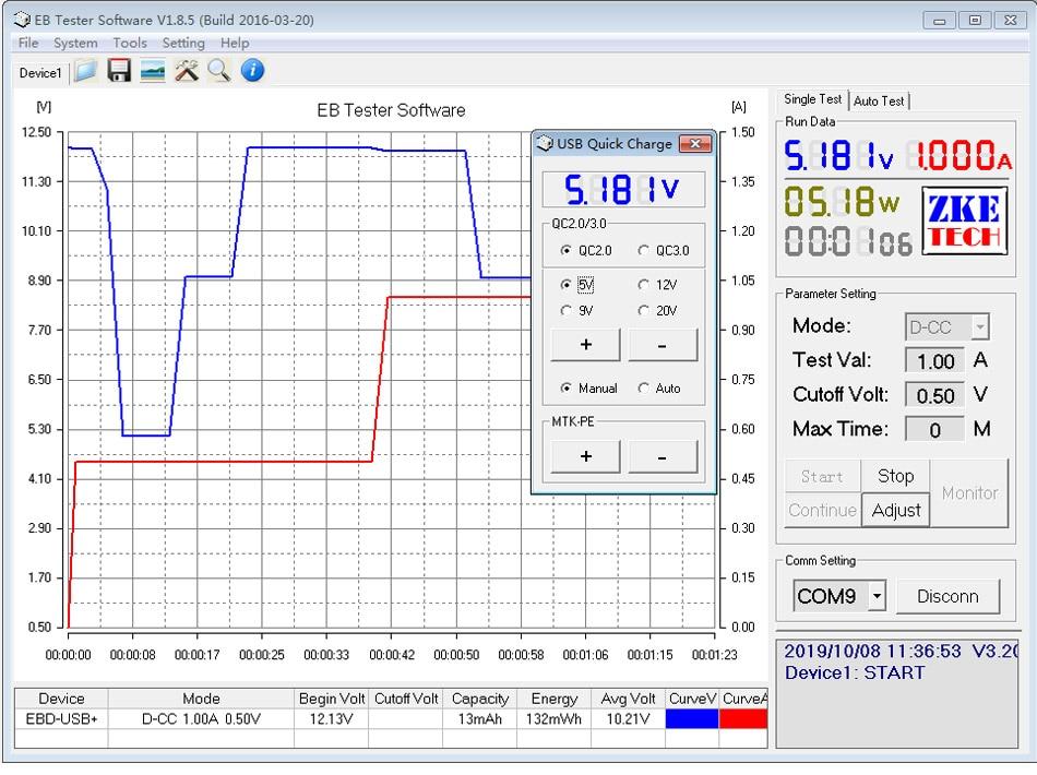 Számítógépes szoftverek online USB teszter DC kisülési - Mérőműszerek - Fénykép 4