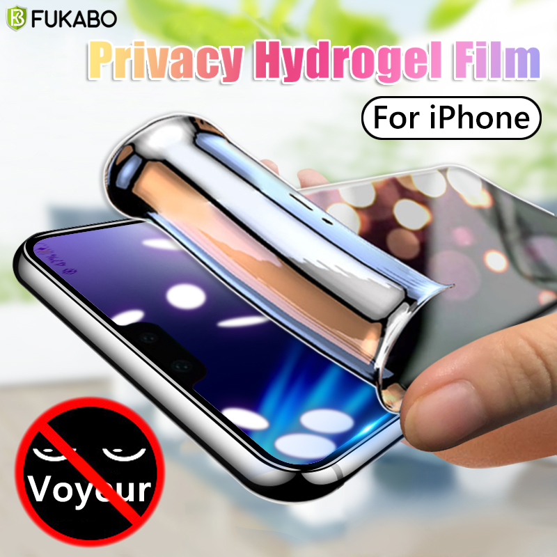 Защитная пленка для iPhone 11 Pro Max XS XR SE 2020, антишпионская Гидрогелевая пленка для iPhone 11 6 7 Plus 8, не стекло|Защитные стёкла и плёнки|   | АлиЭкспресс