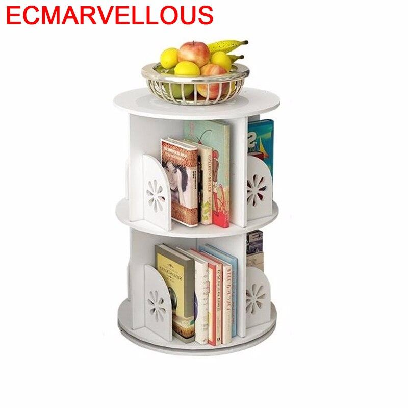 Meuble Industriel Estanteria For Home Book Shelf Wood Rotate Rotatable Bookcase Librero Modern Libreria Scaffale Bookshelf Case