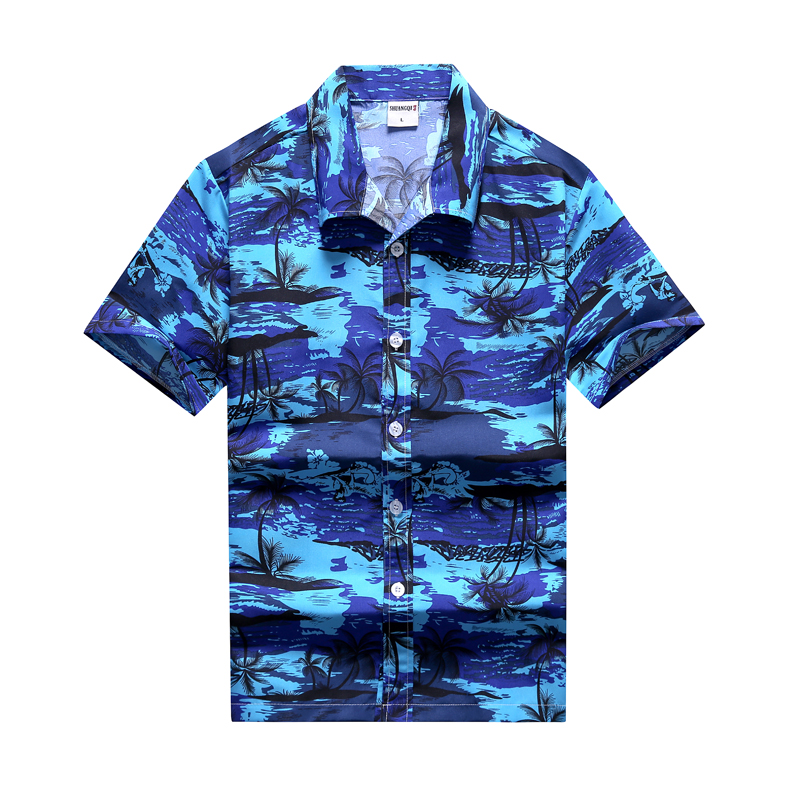 Fashion Mens Hawaiian Shirt Male Casual Colorful Printed Beach Aloha Shirts Short Sleeve Plus Size 5XL Camisa Hawaiana Hombre 88
