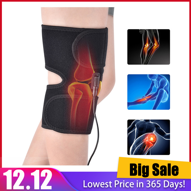 Knee Brace Support Wrap Massager Infrared Heating Hot Therapy Arthritis Cramps Pain Relief Injury Recovery Knee Rehabilitation
