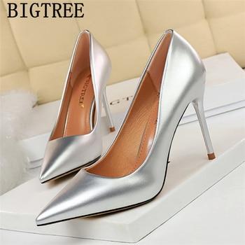 Zapatos De tacón blanco para Mujer, Zapatos De tacón alto fetiche para Mujer, Zapatos De oficina para Mujer, Zapatos De tacón alto italianos