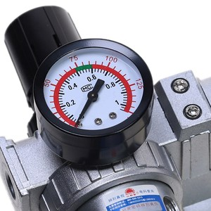 Image 5 - Air Compressor Oil Lubricator Moisture Water Trap Filter Regulator With Mount SFC 200 1/4 1/2 3/8 0 1Mpa 0 150 PSI