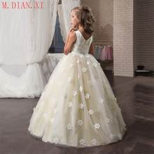 For Girl Children Party Clothing Kids Evening Formal Dress Elegent Flower Long Prom Gowns Teenagers Dresses Bridesmaid Wedding(China)