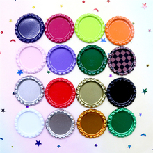 200pcs/lot 24 Colored Inside 1 Inch Flattened Bottle Caps for Crafts DIY Hair Bows Accessories Metal Simulation Beer Bottle Caps no 200pcs diy rb 1