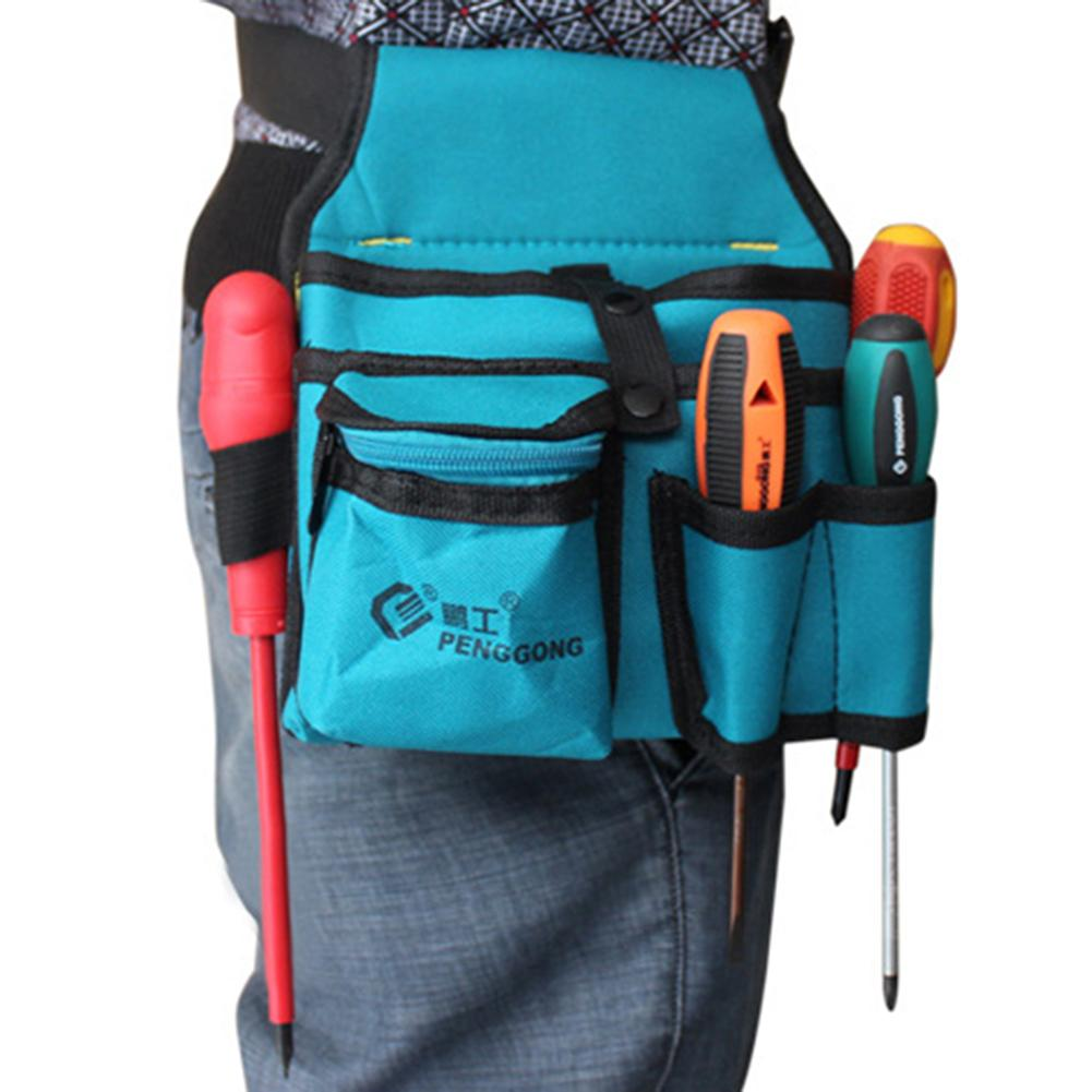 Waist Pockets Electrician Tool Bag Electrician Belt Oganizer Wrench Hardware Storage Bag Hand Repair Tool Bags Toolkit Pouch