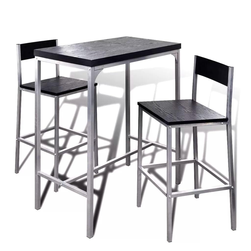VidaXL High Counter Breakfast Bar Set 241495