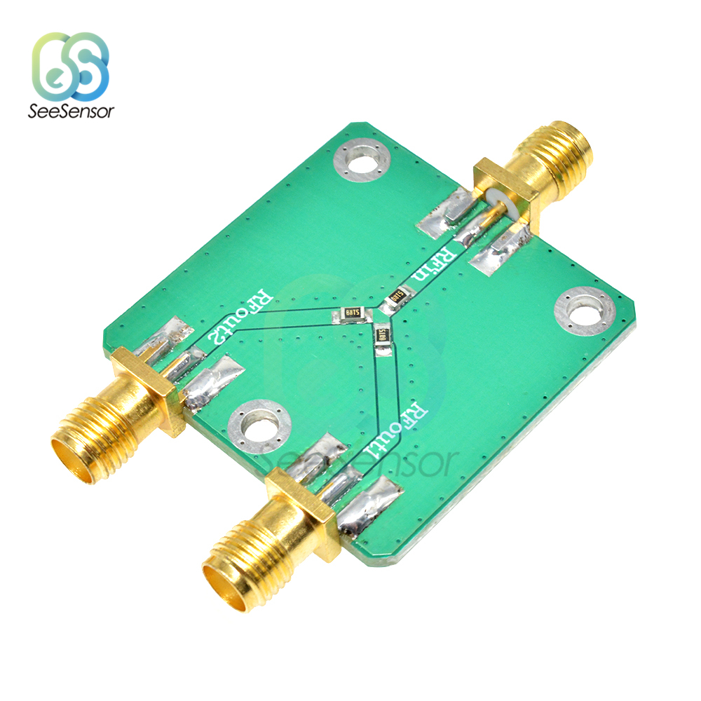 RF Microwave Resistance Power Divider Splitter 1 To 2 Combiner SMA DC-5GHz Radio Frequency Divider Power Splitter