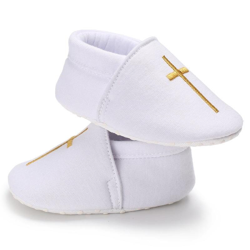 Triursus Brand Baby Boys Girls Prewalker Shoes Christening White Spring Autumn Newborn First Walkers For 0 - 12 Months