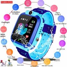 Phone Call Band Waterproof Kids Smart Wristband Watch GPS Antil-lost Smartwatch Baby 2G SIM Card Clock Call Location Tracker все цены