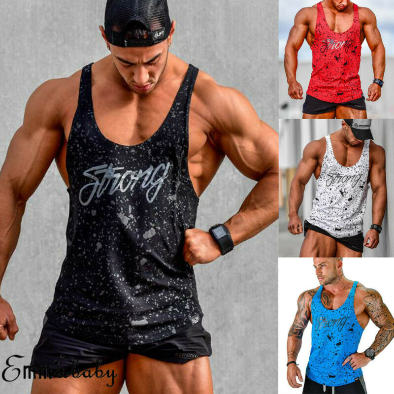Gyms Men/'s Vest Bodybuilding Tank Top Muscle Fitness Clothing T-Shirt Undershirt