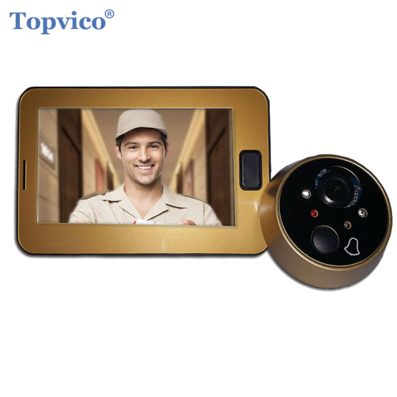Topvico Video Peephole Camera Door 4.3