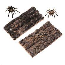 Climbing-Tree Platform Lizard Reptile-Habitat-Decoration Natural Rodent Bark Spider-Hide