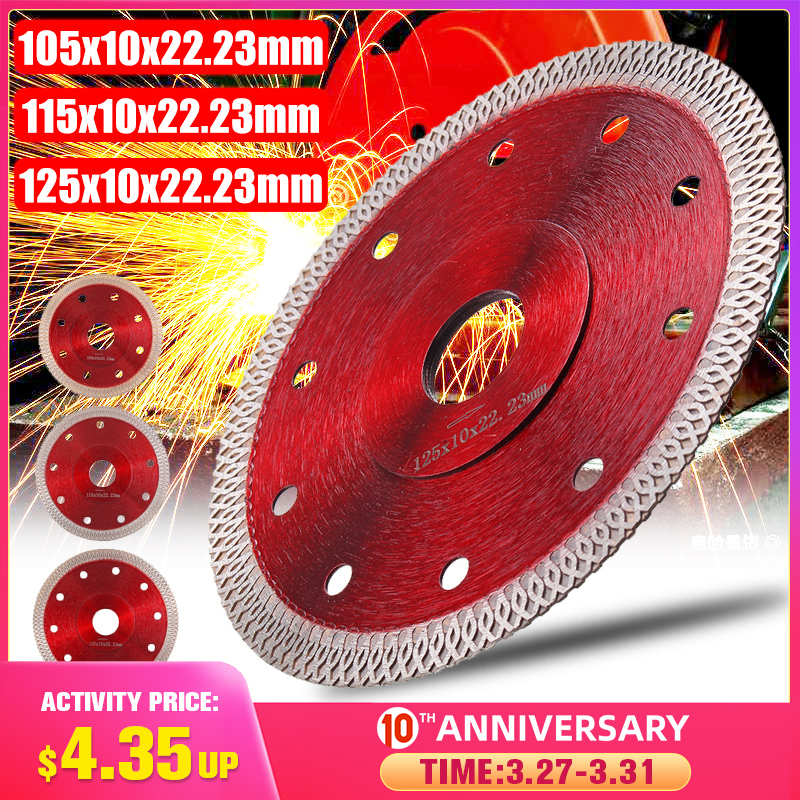 105/115/125mm Diamond Saws Blade Hot Pressed Sintered Mesh Turbo Cutting Disc For Granite Marble Tile Ceramic