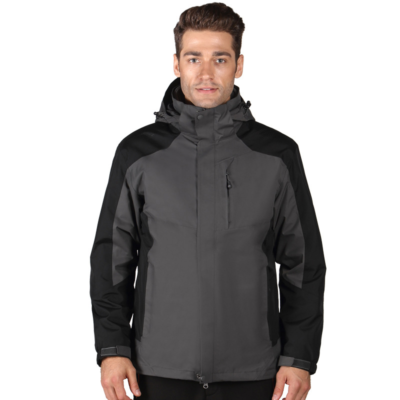 Winter New Style Men's Wind-Resistant Raincoat Jacket Blank Jacket Men's Jacket 5-Color Selectable