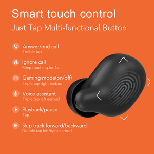 Image 5 - Haylou T15 2200mAh Touch Control Wireless Headphones HD Stereo Noise Lsolation Bluetooth Earphones With Battery Level Display