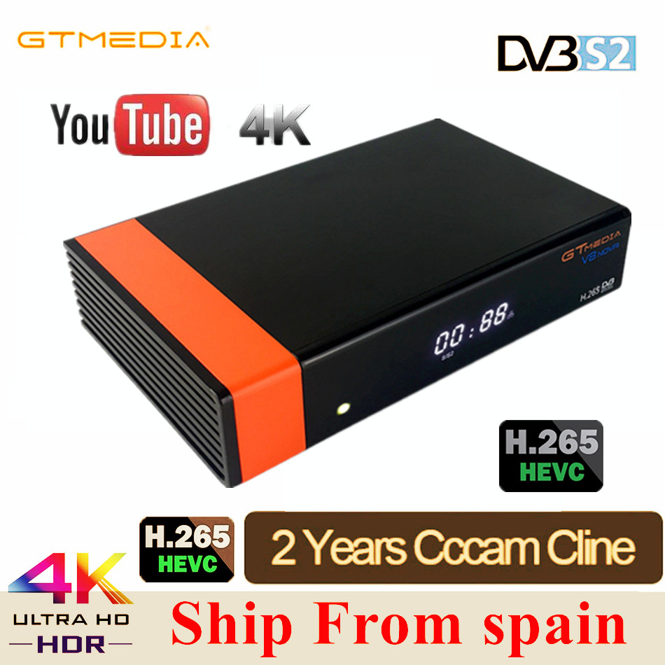 GTMEDIA V8 Honor VDVB-S2 Freesat Satellite TV Receiver FTA Decoder Support PowerVu Biss Key IPTV With 2year Cccam Clines V8 Nova