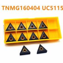 Tungsten Carbide TNMG160404 UC5115 External Turning Machine Lathe Insert for Cast Iron Tool