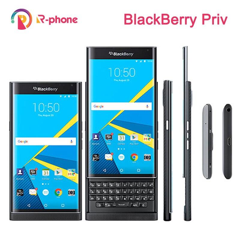 Unlocked Original BlackBerry Priv 5.4' Cellphone Android OS 3GB RAM 32GB ROM 18MP Refurbished Slider Smartphone(China)