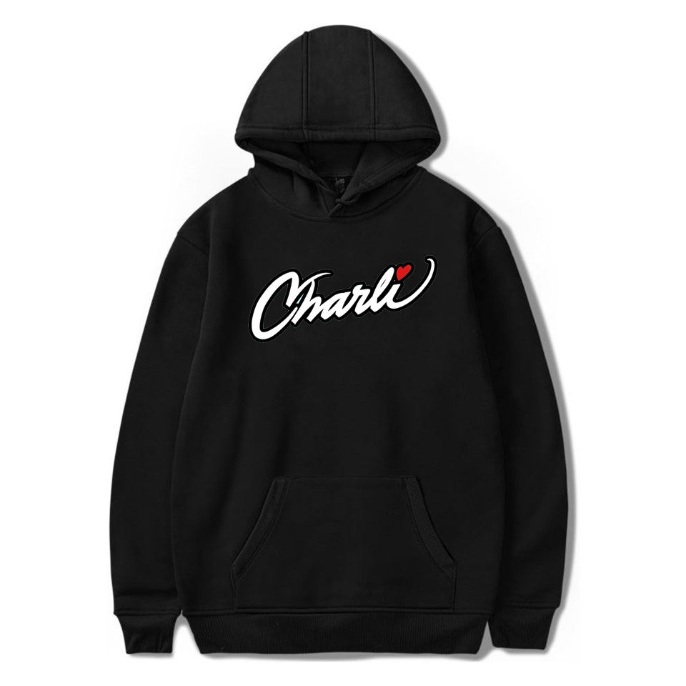 2020 NEW Merch Charli D'amelio Charli Script Hoodies Sweatshirts For Men And Women Internet Celebrity Pullover Unisex Tracksuit