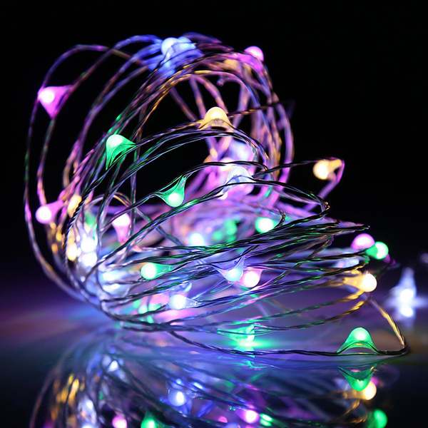 1M 2M 3M 5M LED String Lights Copper Wire Fairy Light Garland Xmas Tree Christmas Wedding Party Home Decoration Battery Lighting